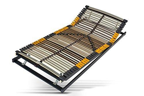 51 uB+klLqL - Hilding Sweden Lattenrost, 90 x 200 cm, mit 44 Latten aus Holz (Kopfteil und Fußteil verstellbar), Fertig montiert, Geeignet für alle Matratzen, Härtegrad 9-fach justierbar