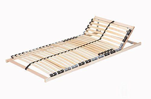 41wEn477PL 500x330 - TAURO 22914 7 Zonen Lattenrost, 90 x 200 cm, Geeignet für alle Matratzen, Kopfteil verstellbar, Komfort Lattenrost mit 28 Leisten