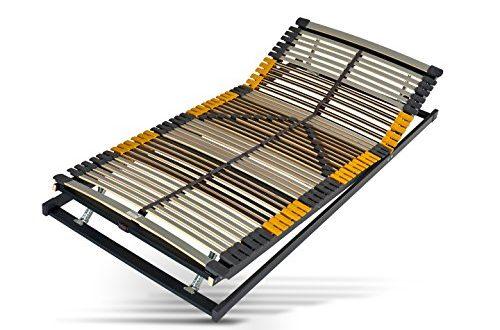 51 uBklLqL 500x330 - Hilding Sweden Lattenrost, 90 x 200 cm, mit 44 Latten aus Holz (Kopfteil und Fußteil verstellbar), Fertig montiert, Geeignet für alle Matratzen, Härtegrad 9-fach justierbar