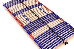 stabiler Lattenrost 100% BUCHE Lattenrahmen - nicht verstellbar, starr - SCHULTERFRÄSUNG, 7 Zonen, 42 Federleisten, Härte-Regulierung, Mittelgurt - FIX SLEEP BEST 42® unmontiert (90x200cm)